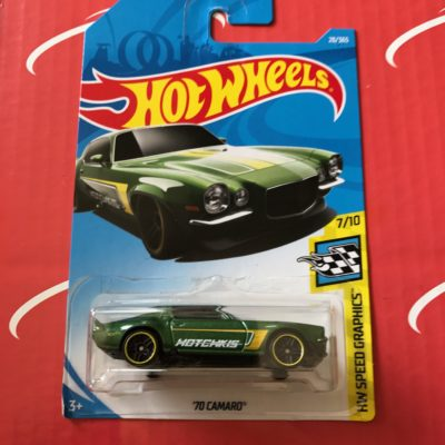 70 Camaro #28 Green Hotchkis 2018 Hot Wheels Case B