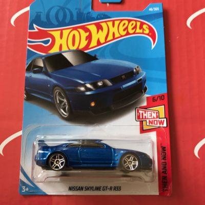Nissan Skyline GT-R R33 #46 Blue 2018 Hot Wheels Case B