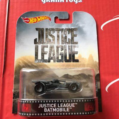 Justice League Batmobile 2017 Hot Wheels Retro Entertainment Mix D