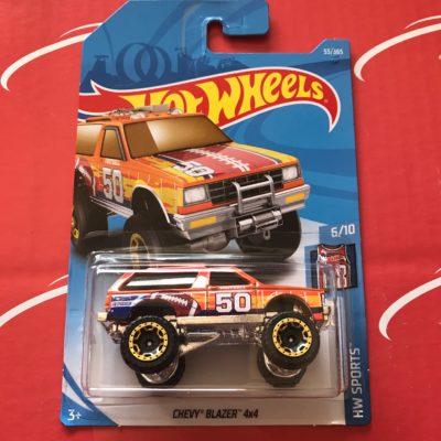 Chevy Blazer 4x4 #53 HW Sports 2018 Hot Wheels Case C