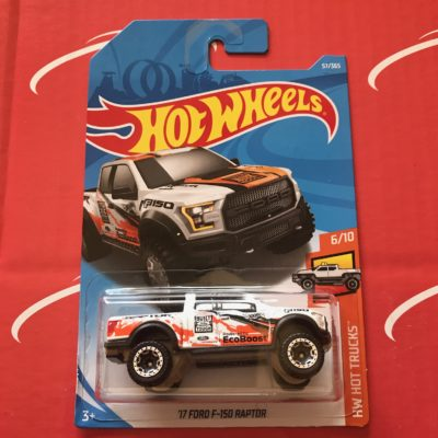 17 Ford F-150 Raptor #57 Hot Trucks 2018 Hot Wheels Case C
