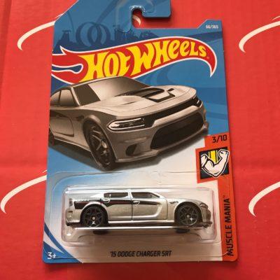 15 Dodge Charger SRT #66 Silver 2018 Hot Wheels Case C