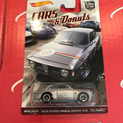 Alfa Romeo Giulia Sprint GTA 2017 Hot Wheels Car Culture Cars and Donuts