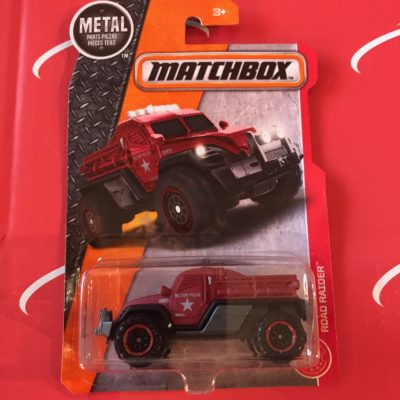 Road Raider Red Military Police 2018 Matchbox Case A