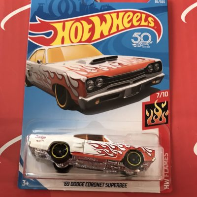 69 Dodge Coronet Superbee #86 US Card 2018 Hot Wheels Case D