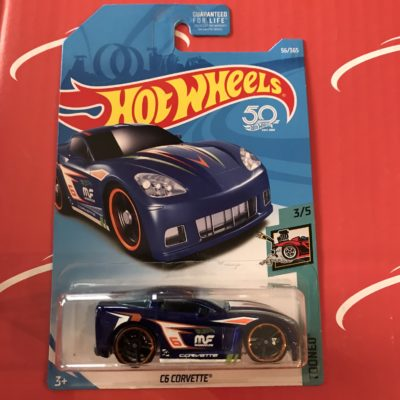 C6 Corvette #56 US Card 2018 Hot Wheels