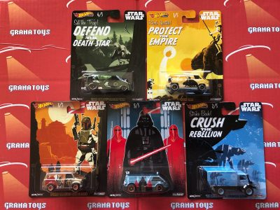 Set of 5 2019 Hot Wheels Star Wars Pop Culture Mix D Astro Van Transit Dream Unimog