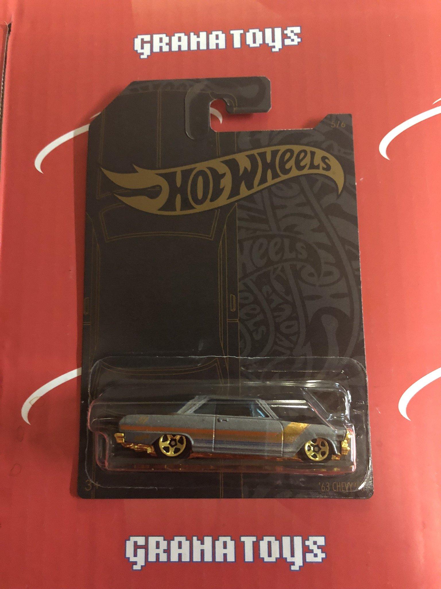 hot wheels satin and chrome 63 Chevy II