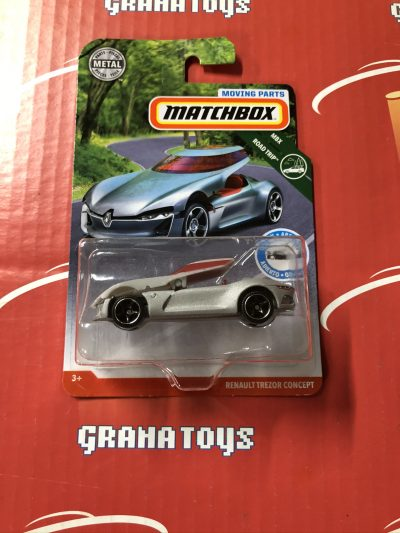 Renault Trezor Concept Silver 2019 Matchbox Moving Parts Series Case A
