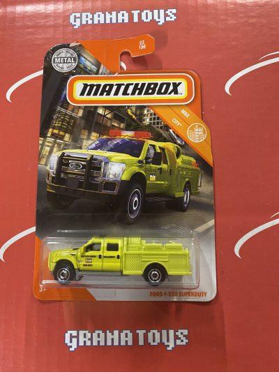 Ford F-550 Superduty #22 City 2020 Matchbox Case C