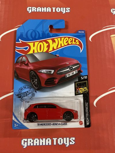 19 Mercedes-Benz A-Class #194 Red 5/10 Nightburnerz 2020 Hot Wheels Case K