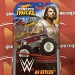 AJ Styles #4 2020 Hot Wheels WWE Monster Trucks Case E