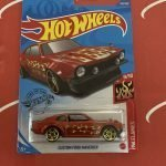 Custom Ford Maverick #142 Red 9/10 Flames 2020 Hot Wheels Case M