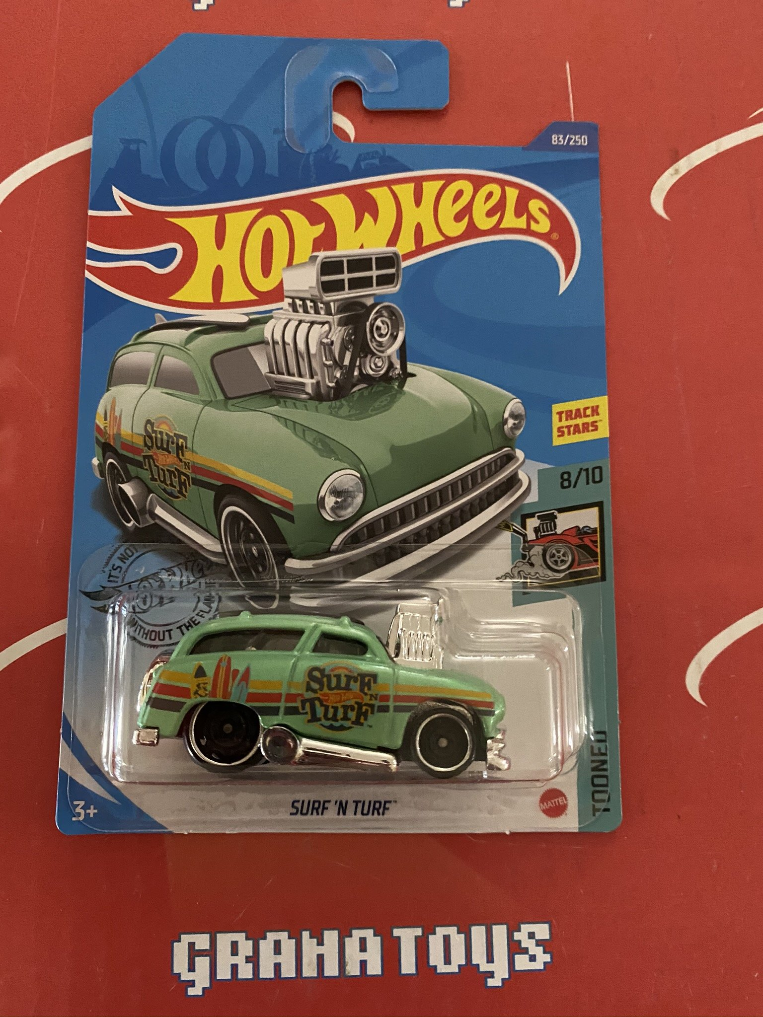 Surf 'N Turf #83 Green 8/10 Tooned 2020 Hot Wheels Case M