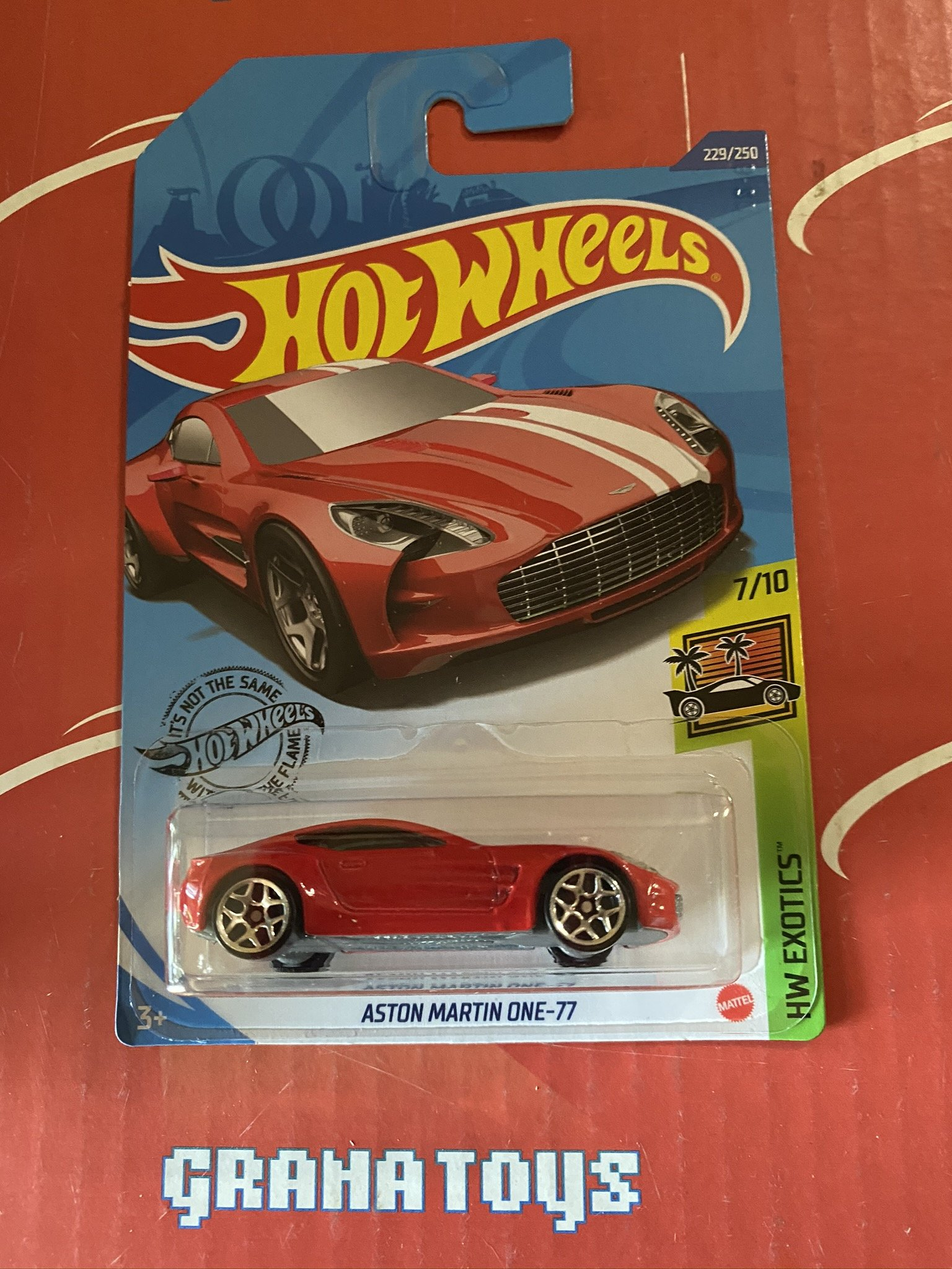 Aston Martin One 77 229 Red Exotics 7 10 2020 Hot Wheels Case N Ebay