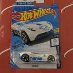 Velocita #167 White 9/10 Olympic Games 2020 Hot Wheels Case P