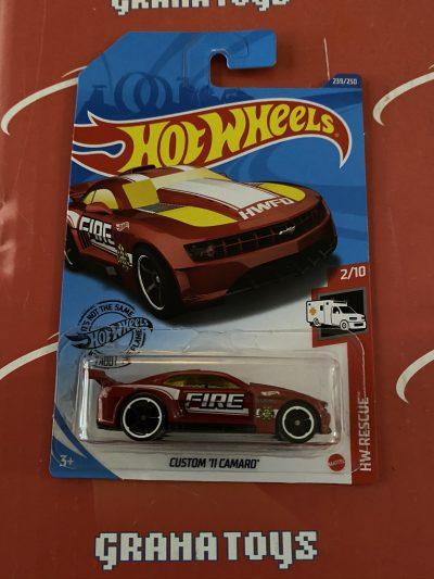 Custom '11 Camaro #239 Red Fire Rescue 2/10 2020 Hot Wheels Case P