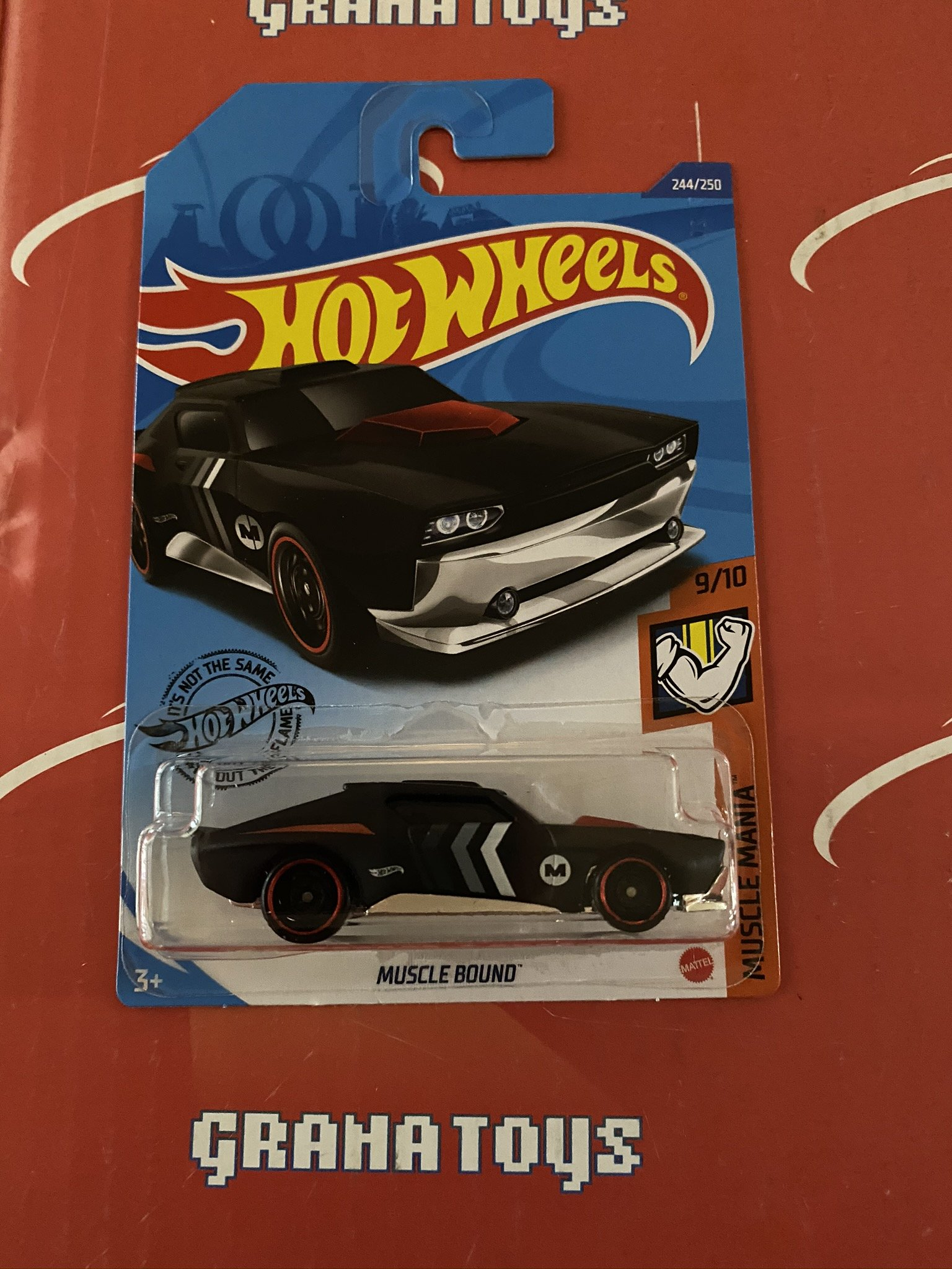 Muscle Bound #244 Black 9/10 Muscle Mania 2020 Hot Wheels Case P