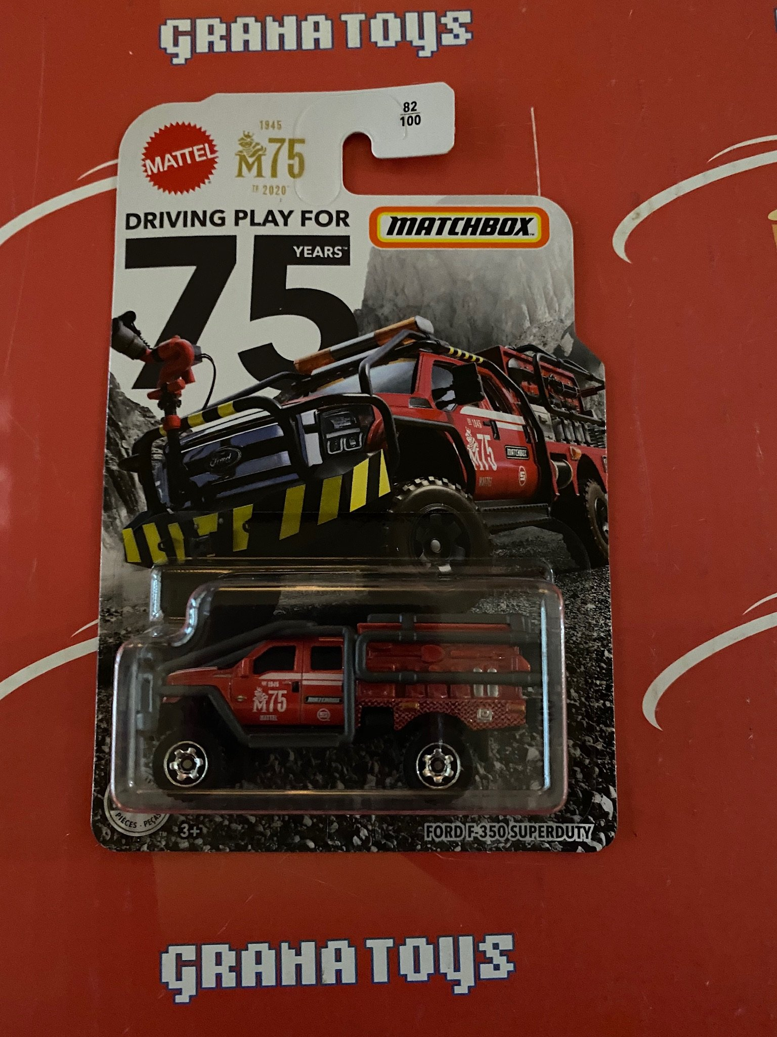 Ford F-350 Superduty #82 75 Years 2020 Matchbox Case E