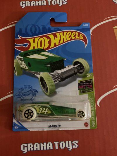 Hi-Roller #18 2/5 Glow Racers 2021 Hot Wheels Case A