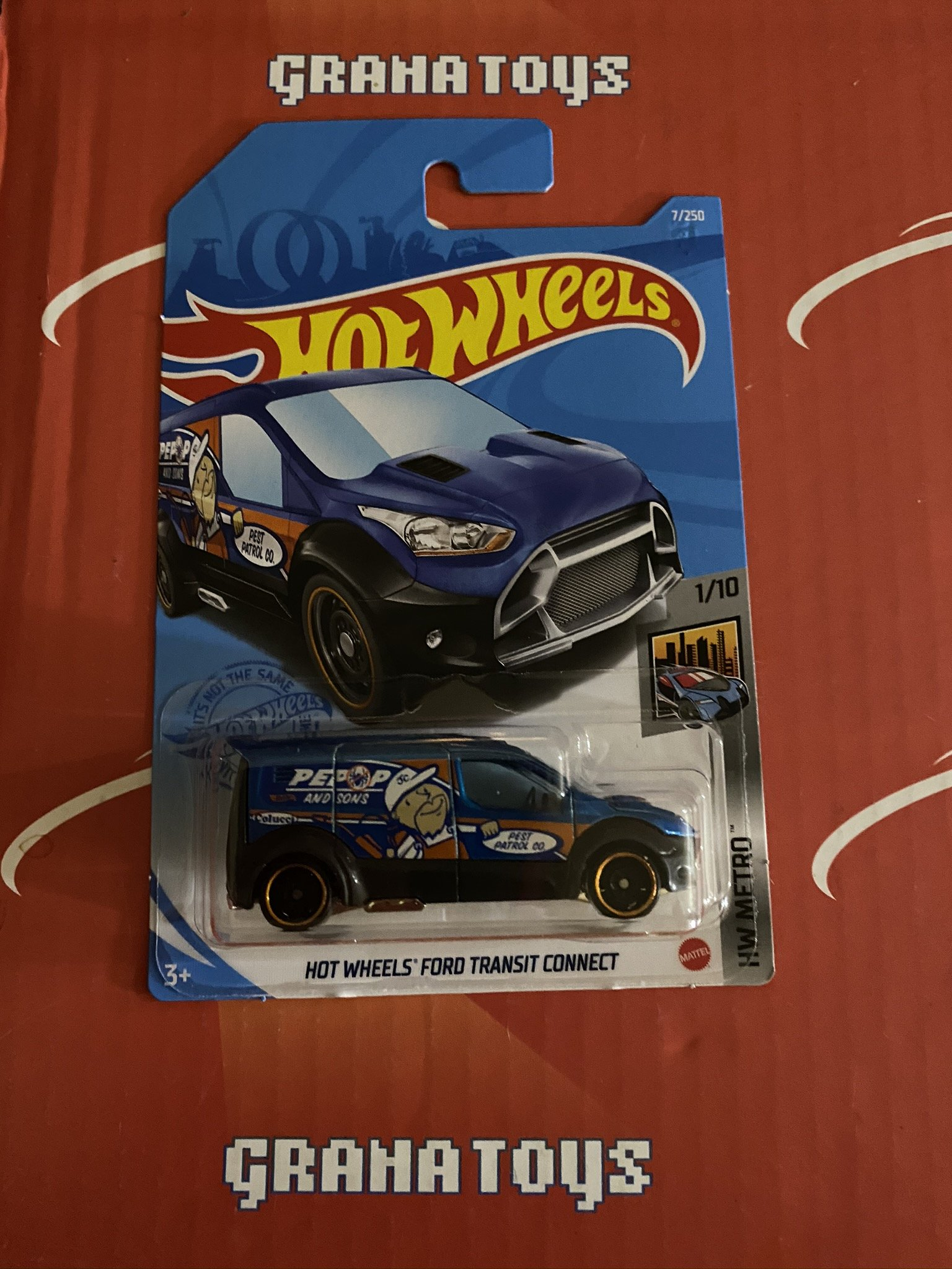 Hot Wheels Ford Transit Connect #7 1/10 Metro 2021 Hot Wheels Case A