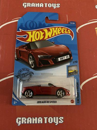 2019 Audi R8 Spyder #175 Red 1/10 Factory Fresh 2020 Hot Wheels Case Q