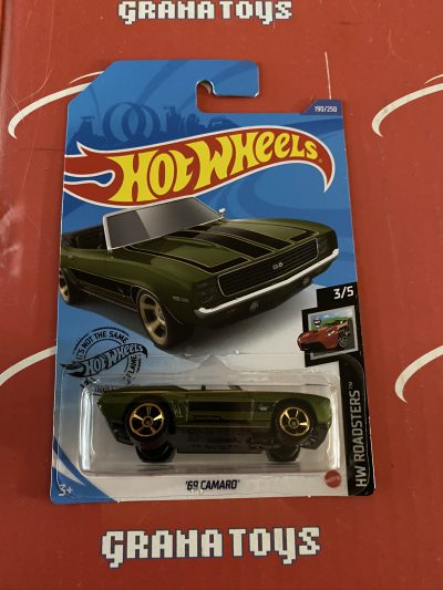 69 Camaro #190 Green 3/5 Roadsters 2020 Hot Wheels Case Q