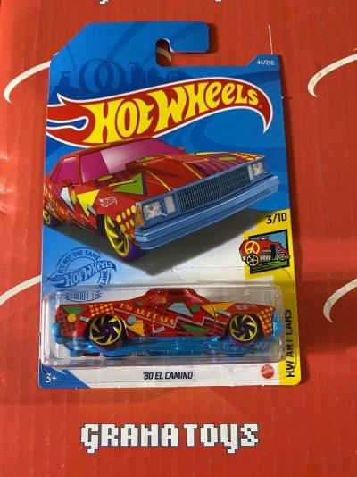 80 El Camino #44 3/10 Art Cars 2021 Hot Wheels Case B