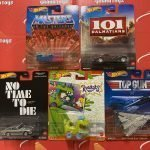 2021 Hot Wheels Retro Entertainment 5 Car Set Mix A MOTU Top Gun Rugrats 007 101 Dalmations