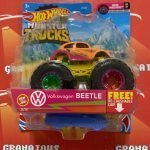 Volkswagen Beetle 21/75 Neon Shocker 3/7 2021 Hot Wheels Monster Trucks Case C