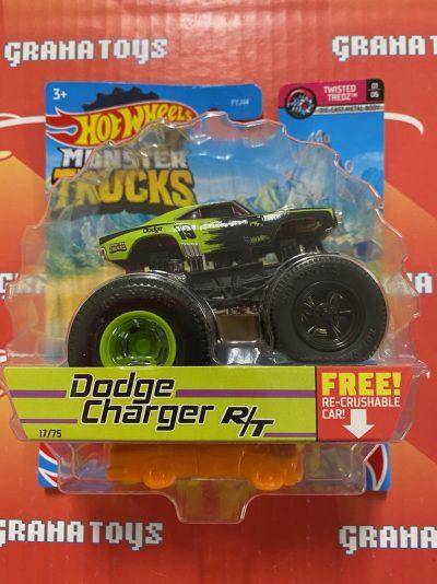 Dodge Charger R/T 17/75 Twisted Tredz 1/6 2021 Hot Wheels Monster Trucks Case C