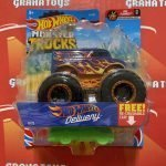 HW Delivery 9/75 Flames 2/7 2021 Hot Wheels Monster Trucks Case B
