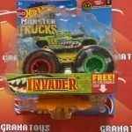 Invader 6/75 Wheel Cool 1/6 2021 Hot Wheels Monster Trucks Case A