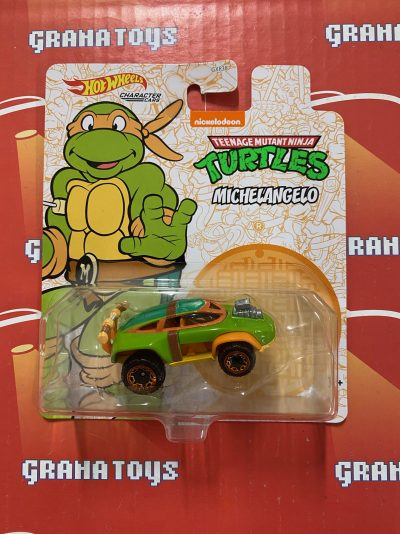 Michelangelo TMNT Hot Wheels 2021 Animation Character Cars Mix P