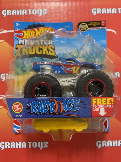 Race Ace 20/75 MT Live 5/7 2021 Hot Wheels Monster Trucks Case C