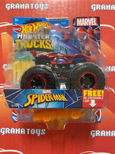 Spider-Man 8/75 Marvel 2021 Hot Wheels Monster Trucks Case C