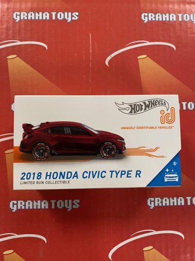 2018 Honda Civic Type R 2021 Hot Wheels ID Cars Case B