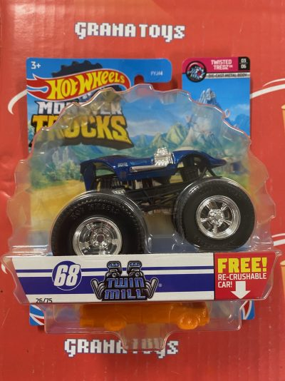 Twin Mill 26/75 3/6 Twisted Tredz 2021 Hot Wheels Monster Trucks Case D