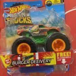 Burger Delivery 27/75 1/6 Fast Foodie 2021 Hot Wheels Monster Trucks Case D