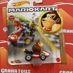 Donkey Kong Standard Kart 2021 Hot Wheels Super Mario Kart Case L