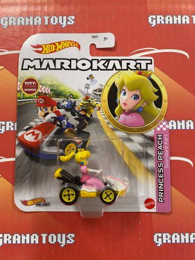 Princess Peach Standard Kart 2021 Hot Wheels Super Mario Kart Case L