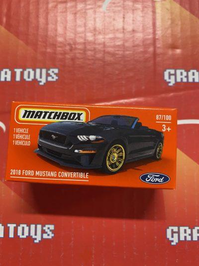 2018 Ford Mustang Convertible #87 2021 Matchbox Power Grabs Case T