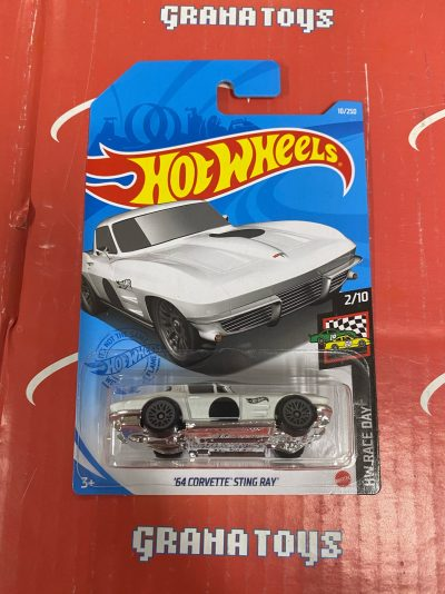 64 Corvette Sting Ray #10 2/10 Race Day 2021 Hot Wheels Case F