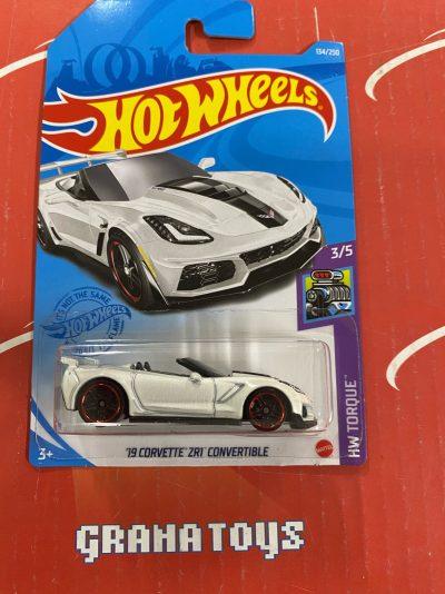 19 Corvette ZR1 Convertible #134 Torque 3/5 2021 Hot Wheels Case G