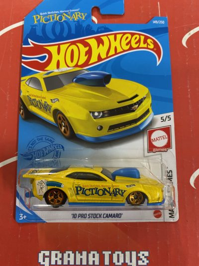 10 Pro Stock Camaro #149 Mattel Games 5/5 2021 Hot Wheels Case G