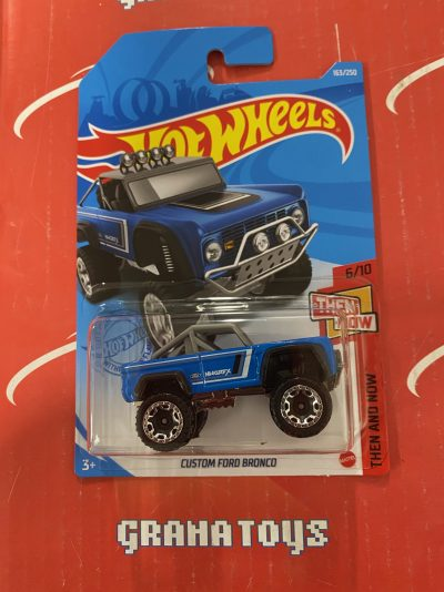 Custom Ford Bronco #163 6/10 Then and Now 2021 Hot Wheels Case H