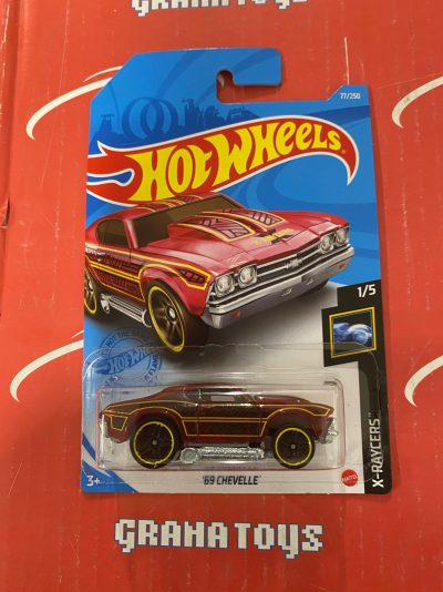 69 Chevelle #77 1/5 X-Raycers 2021 Hot Wheels Case H