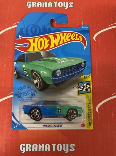 69 COPO Camaro #170 6/10 Speed Graphics 2021 Hot Wheels Case J
