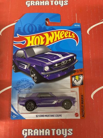 67 Ford Mustang Couple #192 2/10 Muscle Mania 2021 Hot Wheels Case J