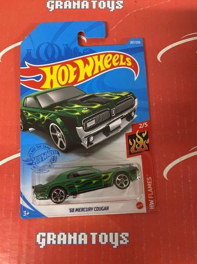 68 Mercury Cougar #207 2/5 Flames 2021 Hot Wheels Case L